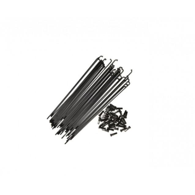 Спицы Federal Stance Butted с ниппелями (40 шт) - черные 194mm