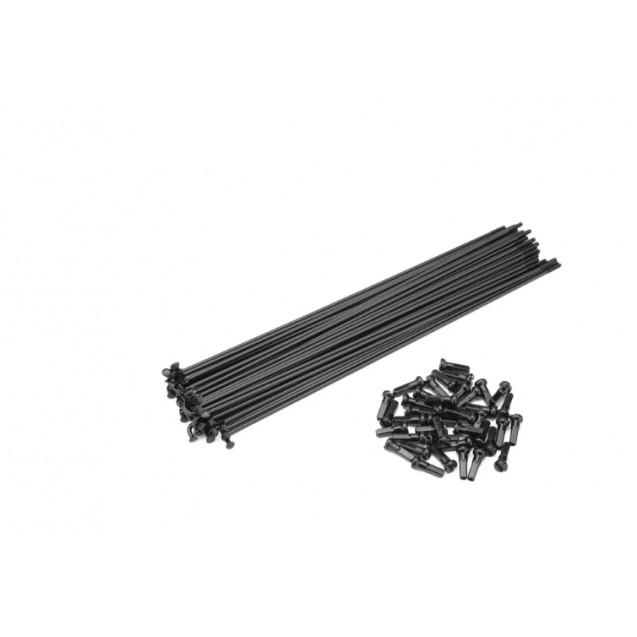 Спицы Cinema ZX 188 мм 40 штук с ниппелем черные