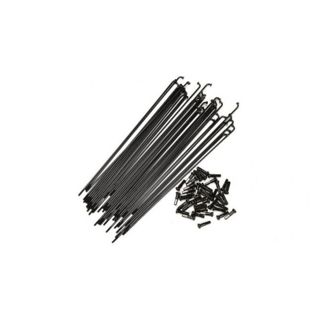 Спицы Federal Stance Butted с ниппелями (40 шт) - черные 184mm